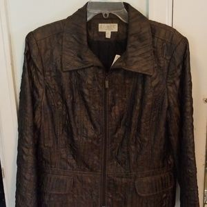 Conrad C Collection Brown Zip up Jacket 14